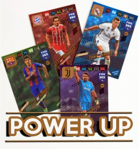 9. POWER UP Goal Stopper Defensive Rock Key Player Game Changer   - wybór kart  FIFA 365 2018