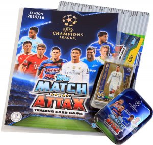 01 ALBUM + Puszka + 36 karty  Ronaldo Limited - TOPPS - CHAMPIONS LEAGUE 2015 / 2016