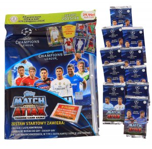 10 x saszetki + ALBUM RONALDO Limited - CHAMPIONS LEAGUE 2015 - 2016