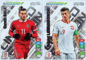 2 karty XXL LIMITED Lewandowski + Bale -  ROAD to EURO 2020