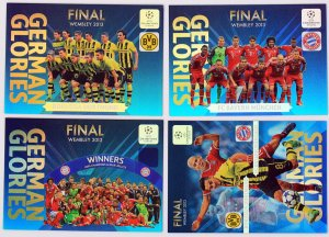 4 karty KOMPLET - German Glories  FINAL - Champions League 2013-2014 Panini