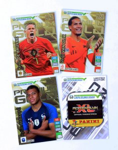 4 x PREMIUM GOLD Limited karty - ROAD to EURO 2020