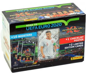 GIFT BOX  60 karty piłkarskie + 3 Limited XXL  ROAD to EURO 2020