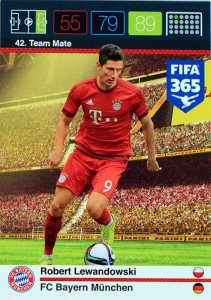 Lewandowski karta Team Mate FIFA 2016