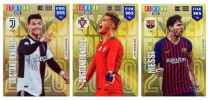 3 karty MESSI Ronaldo Limited Edition FIFA 365 2020