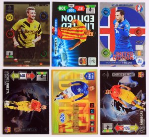 6 kart MIX Limited Edition Messi Iniesta ...