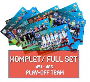 Fans 16 kart komplet - PLAY OFF Team EURO 2020