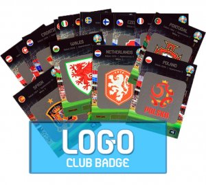 20 kart komplet LOGO club badges -  EURO 2020