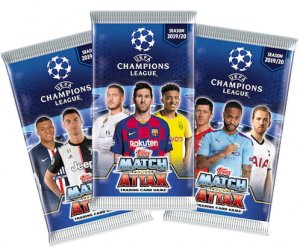 100 x saszetki karty CHAMPIONS LEAGUE 2019 - 2020