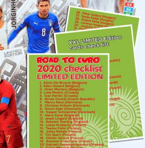 Lista kart Limited Edition - ROAD to EURO 2020