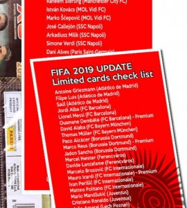 Lista kart Limited Edition  - FIFA 2019 UPDATE