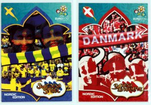 2 karty komplet  Dynamite Danish  + Steel Swedish - EURO 2012
