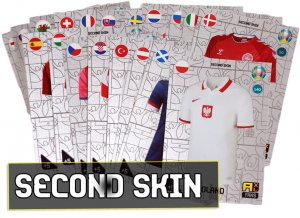 komplet 24 karty   SECOND SKIN   - 2021 KICK OFF EURO