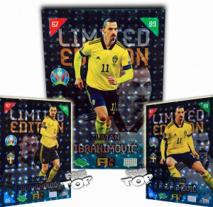 3 x  ZLATAN Ibrahimovic LIMITED -  2021  KICK OFF
