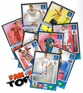 27 kart komplet  IMPACT SIGNING - Champions League 2013/2014