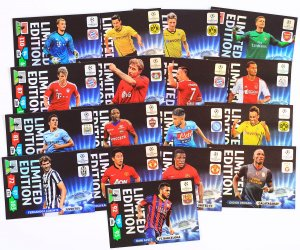 17 kart ZESTAW  Limited Edition - CHAMPIONS LEAGUE 13/14  Panini