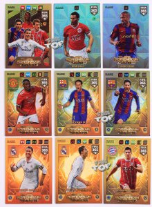 komplet 9 kart  RARE cards Top Master Legend Invinicible - FIFA 365 2018