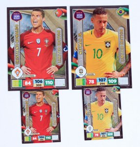 4 x  Limited karty  RONALDO + NEYMAR  XXL + standard -  ROAD TO WORLD CUP 2018