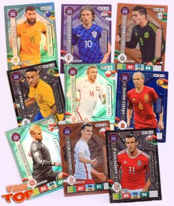 Komplety kart - WYBÓR - Cards sets -  ROAD to World Cup Russia 2018