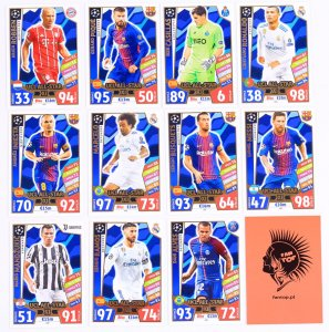 komplet 11 kart UCL ALL STAR XI  -  2017 /2018 Champions League  TOPPS