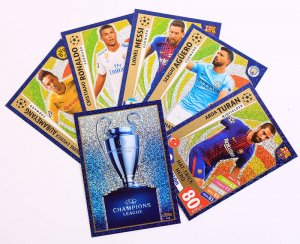 komplet 5 x HAT TRICK HERO + Trophy -  2017 /2018 Champions League  TOPPS