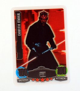 Darth MAUL - karta 3DLimited Edition L5 - STAR WARS Force Attax
