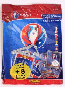 Starter Pack Album + 8 saszetek 40 naklejek - EURO 2016 stickers collection