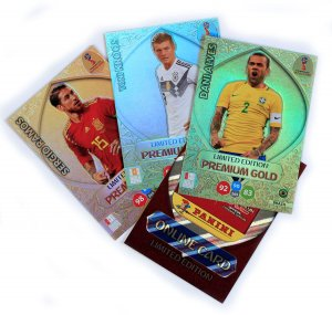 4 karty LIMITED PREMIUM GOLD - WORLD CUP Russia 2018