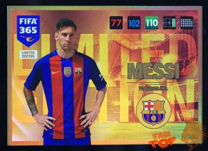 XXL MESSI Limited Edition Duża karta FIFA 365 - 2017