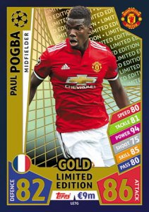 POGBA GOLD Limited Edition - 2017 /2018 Champions League  TOPPS