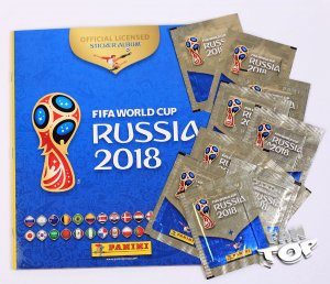 2018 World Cup Russia ALBUM + 10 saszetek  Naklejki stickers