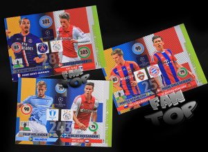 3 karty - komplet DOUBLE TROUBLE Nordic Edition -  Champions League 2015 Panini Adrenalyn XL