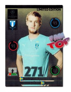 Filip HELANDER  LIMITED EDITION Champions League 2014 2015 Panini ADRENALYN XL  - RARE