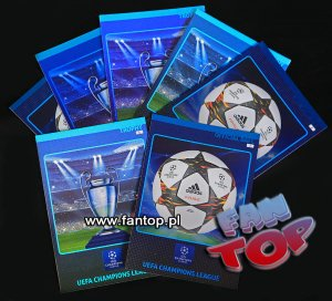 TROPHY & OFFICIAL BALL - karty - Champions League 2014 2015 Panini ADRENALYN XL  - karty nr.1 i 2