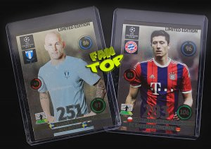 2 karty LIMITED EDITION Champions League 2014 2015  - Promocja - LEWANDOWSKI + ERIKSSON