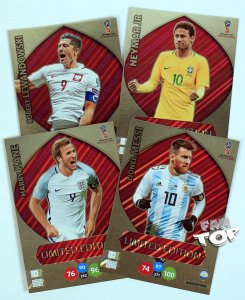 5 x karty Duże XXL Limited RONALDO KANE LEWANDOWSKI MESSI NEYMAR - WORLD CUP Russia 2018