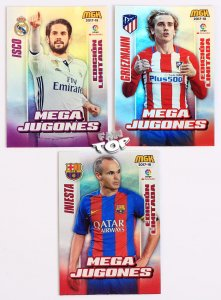 3 karty LIMITED EDITION - LALiga MEGACRACKS 2017 2018