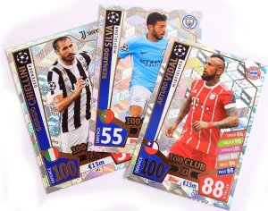 komplet 11 kart 100 CLUB XI  - 2017 /2018 Champions League  TOPPS