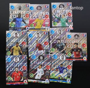 10 kart  Shiny Limited Edition +  RAMKA - EURO 2016