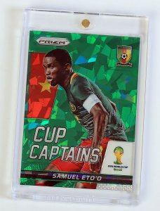 01/25 rare card SAMUEL ETO Cup Captains - WORLD CUP 2014 PRIZM