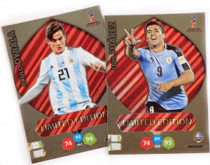 2 karty Limited  SUAREZ  + DYBALA - WORLD CUP Russia 2018