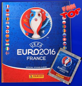 ALBUM + 6 naklejek - Lewandowski - EURO 2016 stickers collection