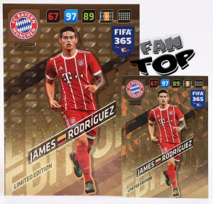 James RODRIGUEZ XXL Limited Edition 10x14 cm - FIFA 365 2018