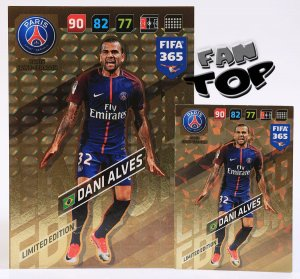 Dani ALVES  XXL Limited Edition 10x14 cm - FIFA 365 2018