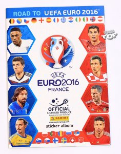 Album do wklejania naklejek ROAD to Euro 2016 stickers