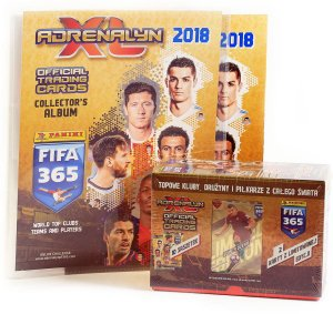 ALBUM + GIFT BOX pudełko 10 + 2 limited - FIFA 365 2018