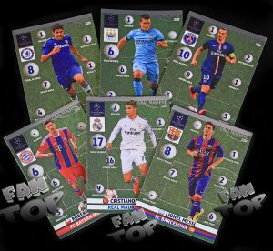GOAL MACHINE - karty Champions League 2015 Panini Adrenalyn XL - NORDIC EDITION