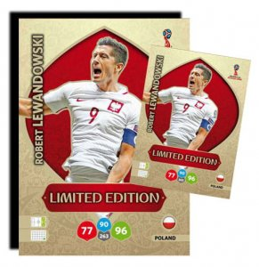 LEWANDOWSKI - XXL Limited duża karta - WORLD CUP Russia 2018